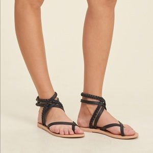 Two pairs of Hollister sandals